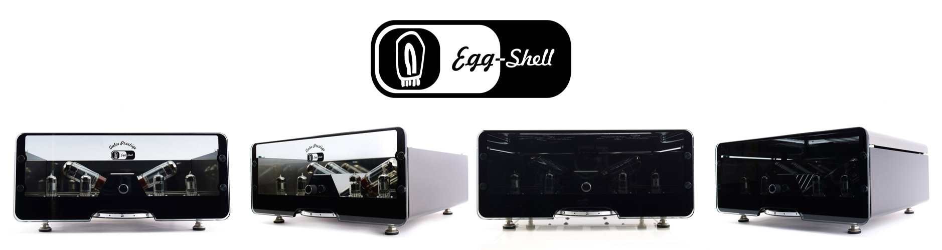 EGG-SHELL vacuum tube amplifiers by Encore Seven