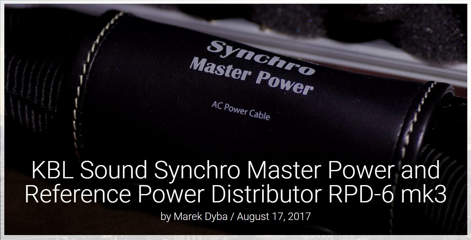 KBL Sound Synchro Master_cover